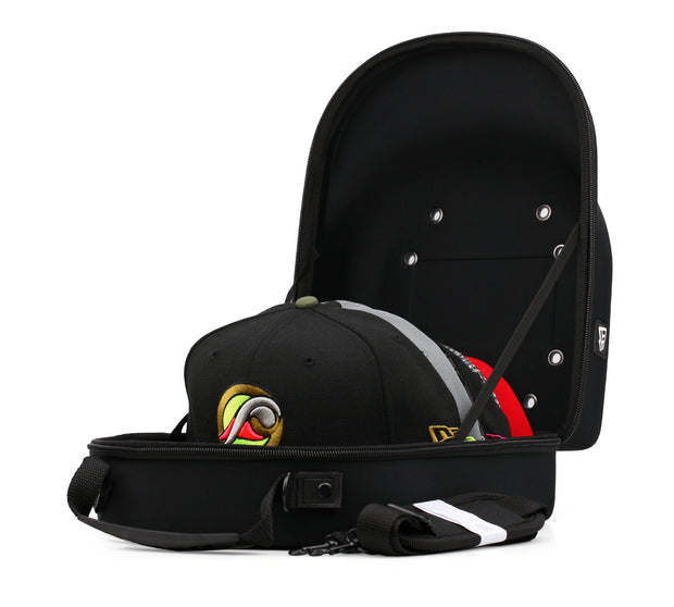 NEW ERA AUTHENTIC 6 CAP CARRIER JET BLACK NEOPRENE WITH SHOULDER STRAP
