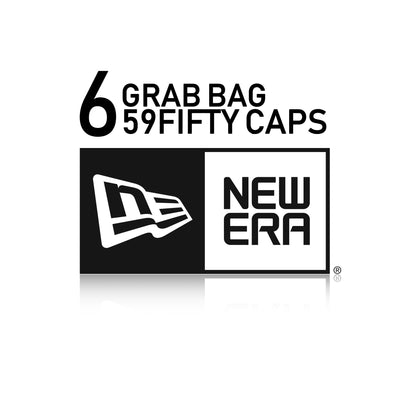 6 RANDOMLY SELECTED TEAM NEW ERA 59FIFTY FITTED HATS MYSTERY GRAB BAG