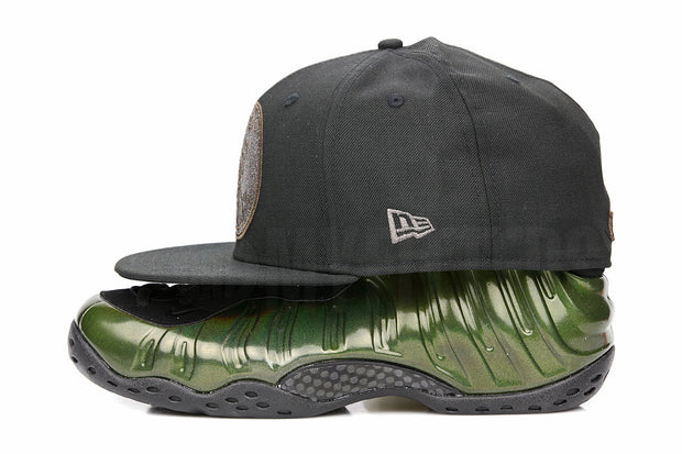 "Penny 1� One Cent Jet Black Air Foamposite One ""Legion Green"" Matching New Era Hat"