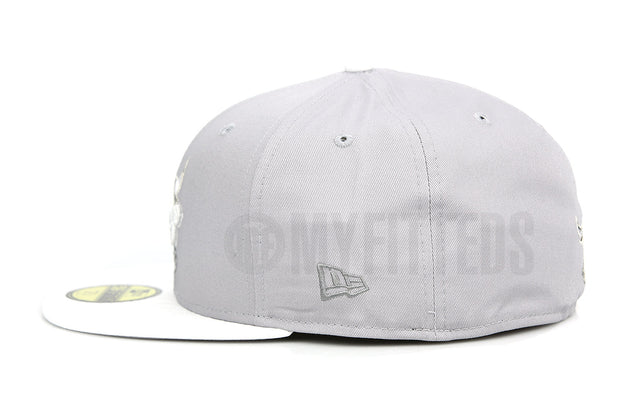 "Chicago Bulls Placid Gray Glacial White Air Jordan VII & XIII Low ""Pure Platinum"" New Era Hat"