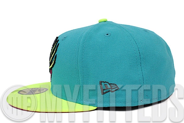 Vancouver Grizzlies Filament Ultra High Voltage Evolution Berry Pink Gunmetal New Era Hat