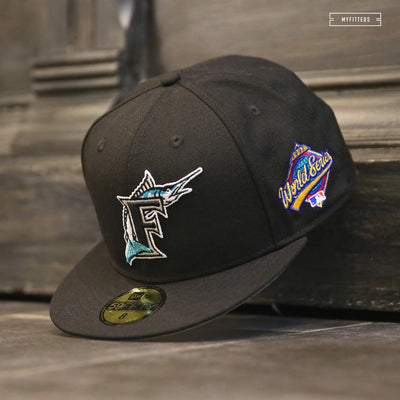 FLORIDA MARLINS 1997 WORLD SERIES GAME ON-FIELD NEW ERA FITTED CAP