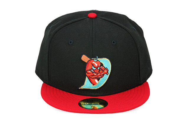 El Paso Diablos Jet Black Scarlet Official Team Color MiLB Wool Custom New Era Hat