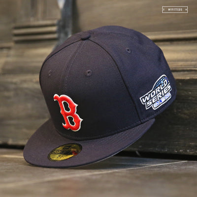 BOSTON RED SOX 2004 WORLD SERIES ON-FIELD NEW ERA FITTED CAP