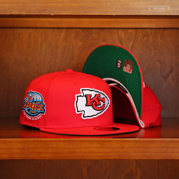KANSAS CITY CHIEFS 2004 PRO BOWL HAWAII NEW ERA FITTED CAP