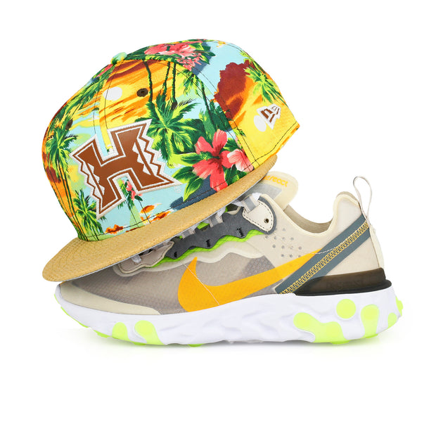 HAWAII RAINBOW WARRIORS FLORAL PARADISE WOVEN STRAW NEW ERA STRAPBACK HAT