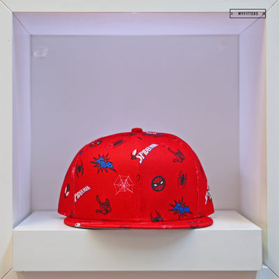 SPIDERMAN PETER & MILES POWER COUPLE SCATTERED AOP NEW ERA SNAPBACK