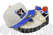 Cleveland Cavaliers Sand Stone Azure Blue Jet Black Orange Air Force 1 CMFT MOWABB New Era Fitted Hat