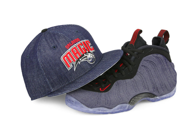 "ORLANDO MAGIC AIR FOAMPOSITE ONE ""DENIM"" MATCHING NEW ERA SNAPBACK"