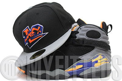 Lexington Legends Jet Black Wolf Storm Grey Citrus Air Jordan 8 Suns New Era Hat