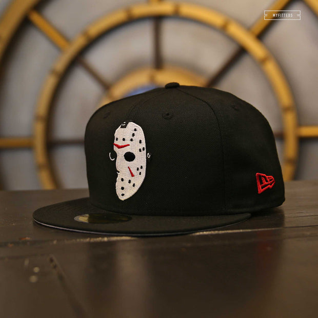 JASON VOORHEES SILHOUETTE MASK FRIDAY THE 13TH NEW ERA FITTED CAP