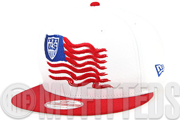 f7fe5086383 Team USA Soccer Glacial White Garnet Fire Club Royal Waving Flag New Era  Snapback Hat