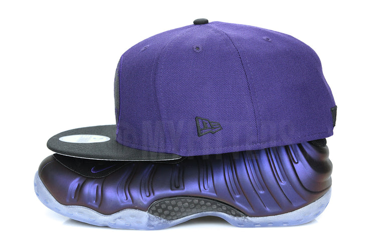 "Penny One Cent 1¢ Concord Jet Black Air Foamposite One ""Eggplant"" New Era Fitted Cap"