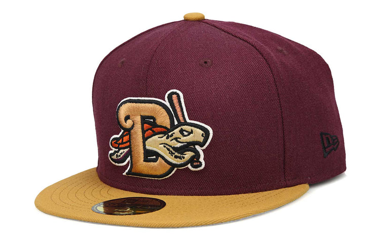 Daytona Tortugas Intense Maroon Birch Veneer Gum Pack New Era Fitted Cap