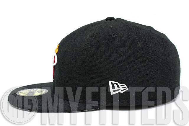 Miami Heat Black Russet Sunset Autumn Gold White Official Team Color NBA New Era Fitted Hat
