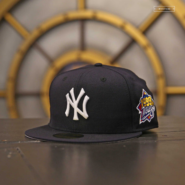NEW YORK YANKEES 1999 WORLD SERIES ON-FIELD NEW ERA FITTED CAP