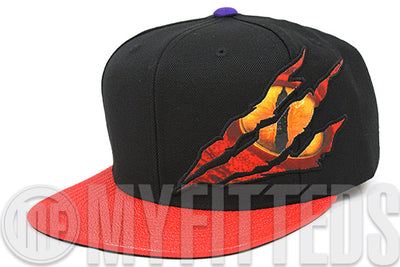 Toronto Raptors 1995 NBA Expansion The Eye of the Raptor Jet Black Blood Red Mitchell & Ness Snapback