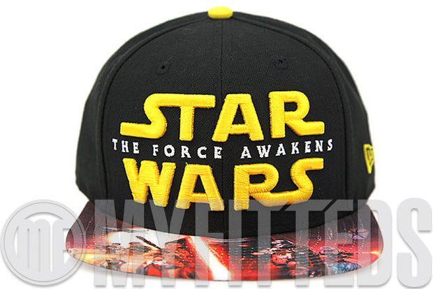Star Wars The Force Awakens Movie Inspired Visor Print New Era Original Fit Snapback Hat