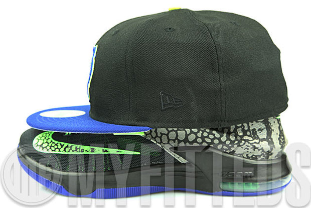 Tigres De Quintana Roo Jet Black Royal Blue High Voltage Sprite LeBron 8 New Era Fitted Cap