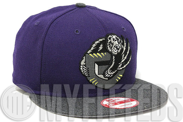 Vancouver Grizzlies Concord Melton Wool Grey Metallic Silver Yellow NBA 9Fifty New Era Snapback