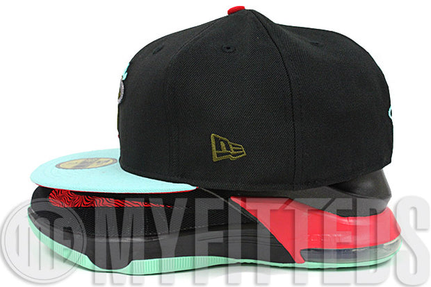 Miami Heat Black Seaglass Parachute Gold Kings Pride Lebron 11 Matching New Era Fitted Hat