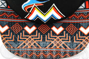 Miami Marlins Print Play Jet Black Orangeade Aztec Original Fit New Era Snapback