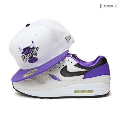 CHICAGO BULLS GLACIAL WHITE / HYACINTH AIR MAX 1 DNA CH.1 NEW ERA HAT