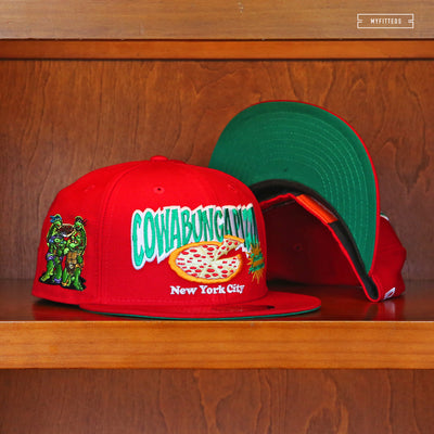 "TEENAGE MUTANT NINJA TURTLES ""COWABUNGA PIZZA NYC"" RED NEW ERA HAT"