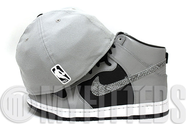 Brooklyn Nets Placid Grey Black White Official Team Color NBA New Era Fitted Hat