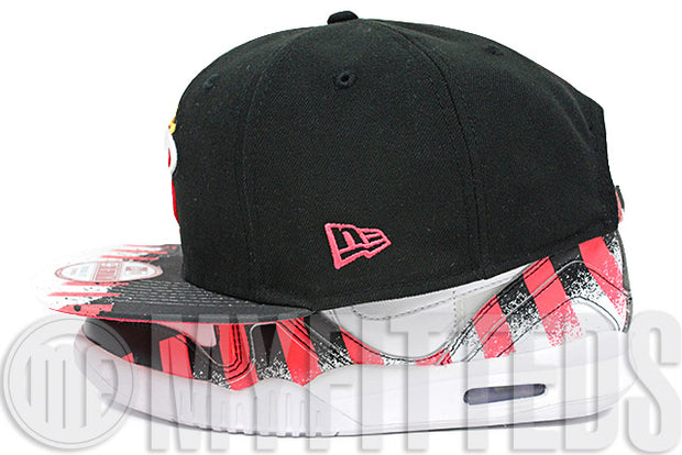 Miami Heat Print Topper Air Tech Challenge Hybrid French Open Matching New Era Strapback Hat