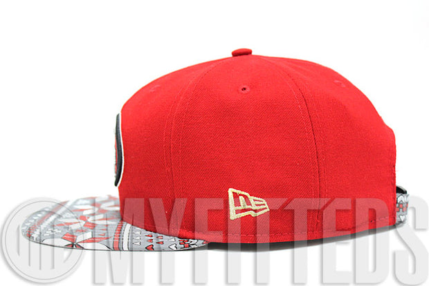 San Francisco 49ers Snowflect Scarlet White Jet Black Gold Reflective NFL New Era Strapback