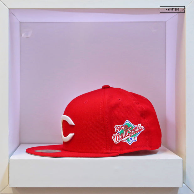 CINCINNATI REDS 1990 WORLD SERIES ON-FIELD NEW ERA FITTED CAP