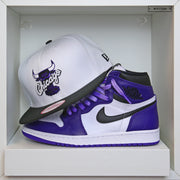 "CHICAGO BULLS AIR JORDAN I ""COURT PURPLE"" / XI ""CONCORD"" NEW ERA SNAPBACK HAT"