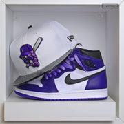 "JAMESTOWN JAMMERS AIR JORDAN I ""COURT PURPLE"" / XI ""CONCORD"" NEW ERA SNAPBACK"