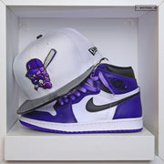 "JAMESTOWN JAMMERS AIR JORDAN I ""COURT PURPLE"" / XI ""CONCORD"" NEW ERA FITTED CAP"