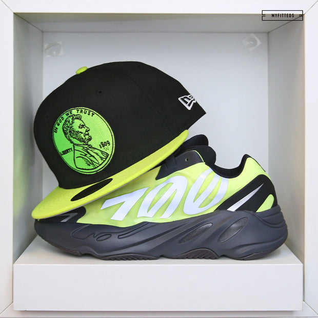 "PENNY 1¢ ONE CENT ADIDAS YEEZY BOOST 700 MNVN ""PHOSPHOR"" NEW ERA FITTED HAT"