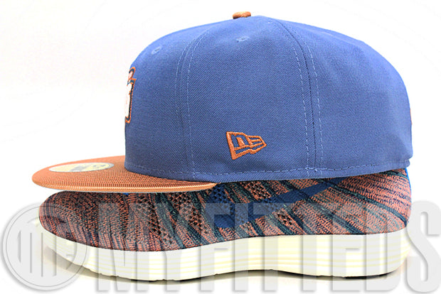 Washington Nationals Slate Blue Metallic Copper Glacial White MLB New Era Fitted Hat