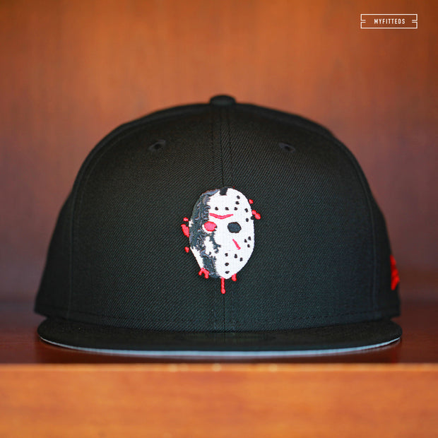 FRIDAY THE 13TH JASON VOORHEES BLOODMASK CAMP CRYSTAL LAKE NEW ERA FITTED CAP