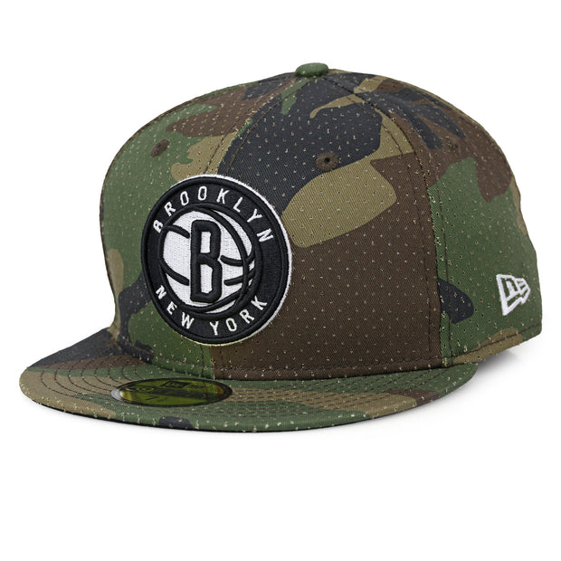 BROOKLYN NETS PERFORATED CAMOUFLAGE NEW ERA 59FIFTY FITTED CAP