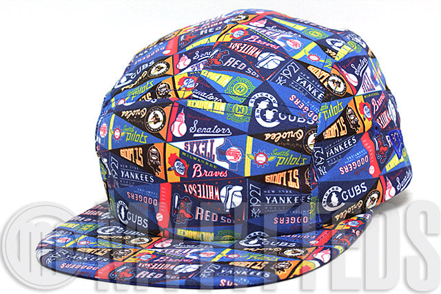 MLB Reach for the Pennants Full Team Color All Over 5 Panel New Era Strapback Hat