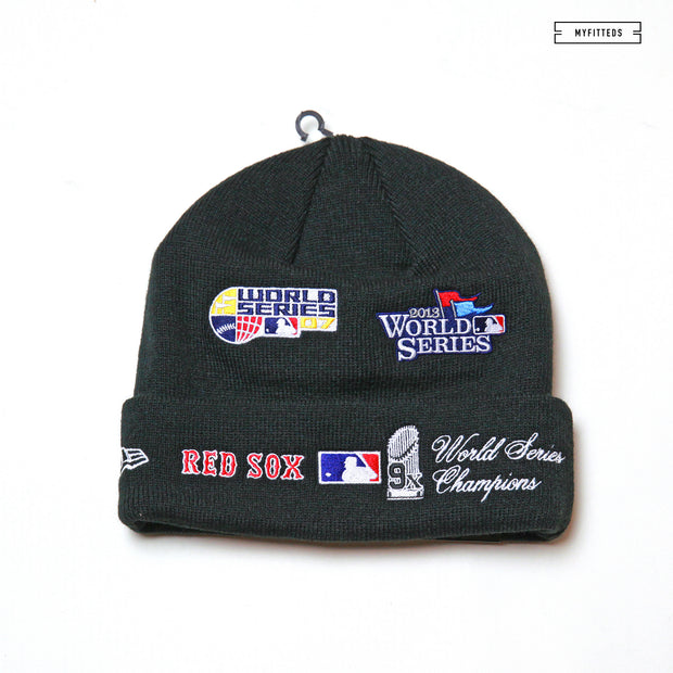 BOSTON RED SOX TEAM ACCOLADES DOUBLE KNIT CUFFED NEW ERA SKULLY