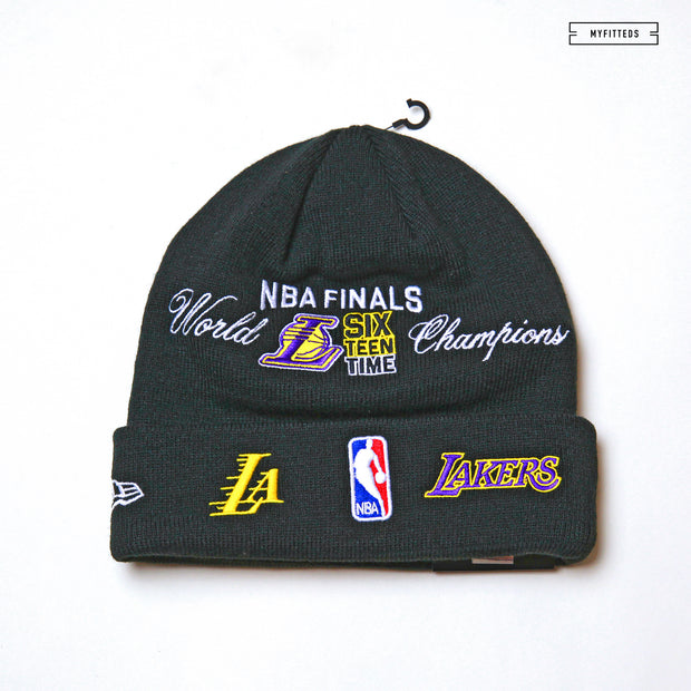 LOS ANGELES LAKERS TEAM ACCOLADES DOUBLE KNIT CUFFED NEW ERA SKULLY