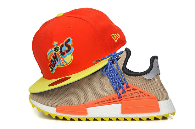 Seattle Supersonics Orangeade Moonbeam PW HUMAN RACE NMD TR New Era Hat