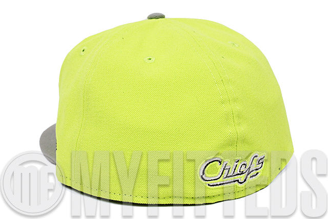 Syracuse Chiefs High Voltage Evolution Grey Silver Wheat LeBron XI Maison du LeBron New Era Fitted Hat