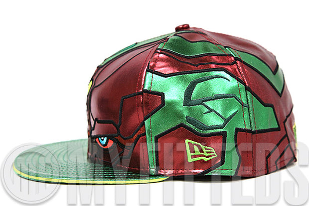 311f307b Avengers Age of Ultron Vision Character Armor Shimmering Jade Shimmering  Scarlet New Era Hat