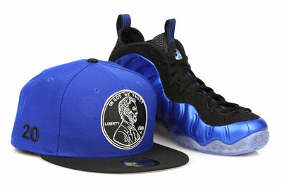 "Penny 1¢ ""20"" Forza Azure Jet Black Air Foamposite One XX ""Royal Blue"" Matching New Era Fitted Cap"