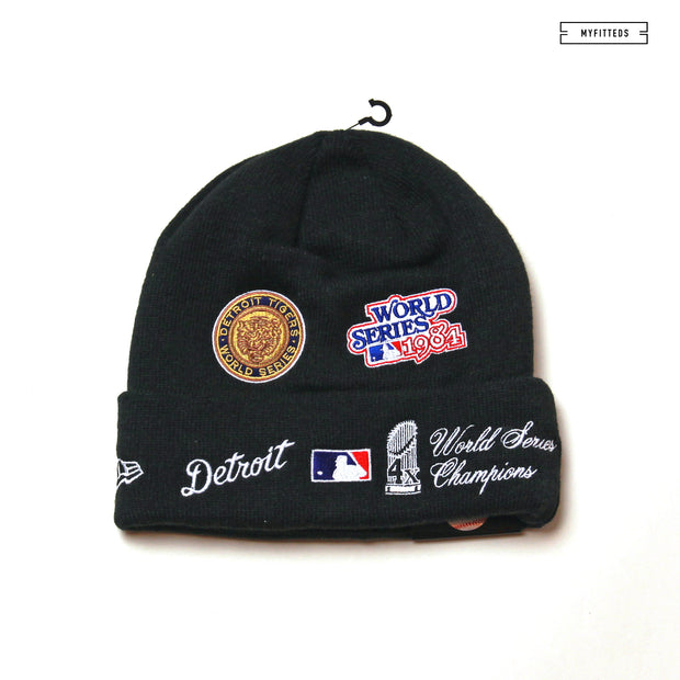DETROIT TIGERS TEAM ACCOLADES DOUBLE KNIT CUFFED NEW ERA SKULLY
