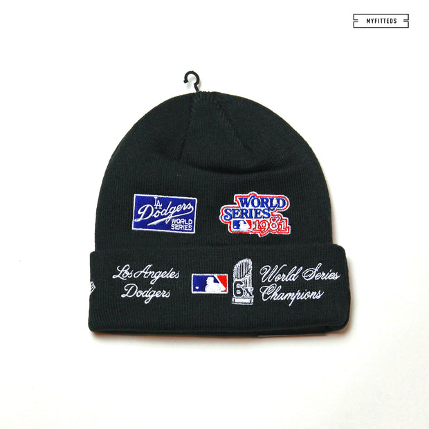 LOS ANGELES DODGERS TEAM ACCOLADES DOUBLE KNIT CUFFED NEW ERA SKULLY
