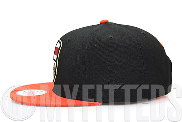 California Republic Shield San Francisco Giants Colors Jet Black Orangeade New Era Snapback