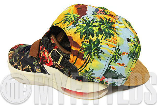 Hawaii Rainbow Warriors Floral Paradise Woven Straw Woven Strap KD VII QS Floral New Era Strapback Hat